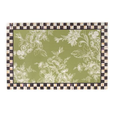 Wild Rose Floor Mat - 2' x 3' - Fern