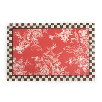 Wild Rose Floor Mat - 2' x 3' - Red