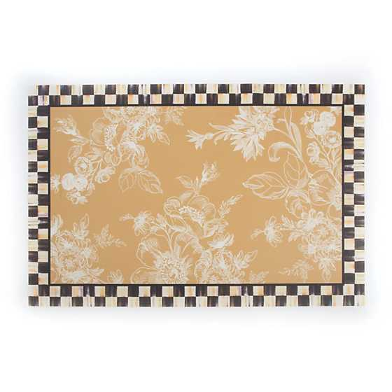 Mackenzie Childs Wild Rose Floor Mat 2 X 3 Wheat