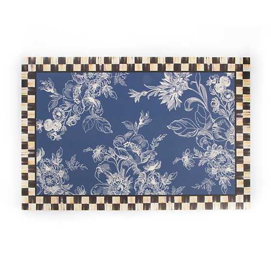Wild Rose Floor Mat - 3' x 5' - Blue
