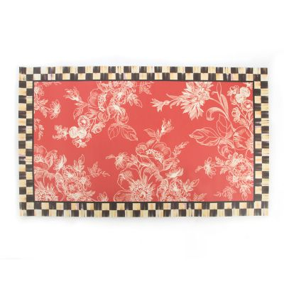 Wild Rose Floor Mat - 3' x 5' - Red
