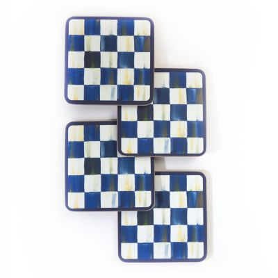 Image for Royal Check Cork Back Coasters - Set of 4