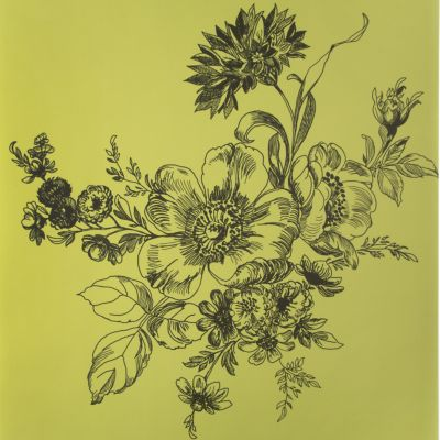 Wild Rose Wallpaper - Chartreuse