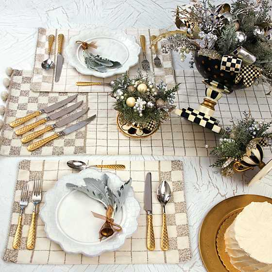 Gold Check Flatware - 5-Piece Place Setting image six