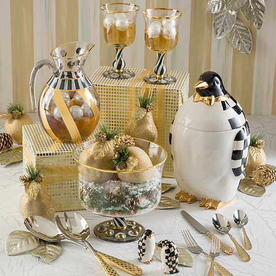 Gold Check Flatware - 5-Piece Place Setting image ten