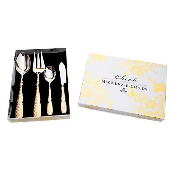 Gold Check Hostess Serving Set image four