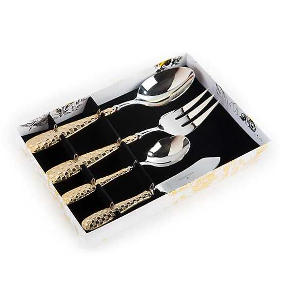 Gold Check Hostess Serving Set image three