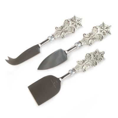 Snowfall Cheese Knives - Set of 3
