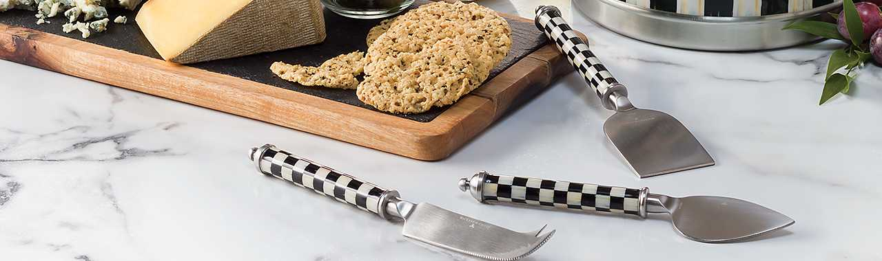 Supper Club Cheese Knife Set - Courtly Check Banner Image