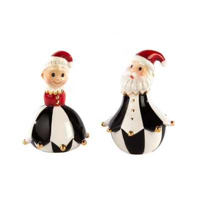 Jester Mr. & Mrs. Claus Salt & Pepper Set