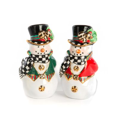 Top Hat Snowman Salt & Pepper Set