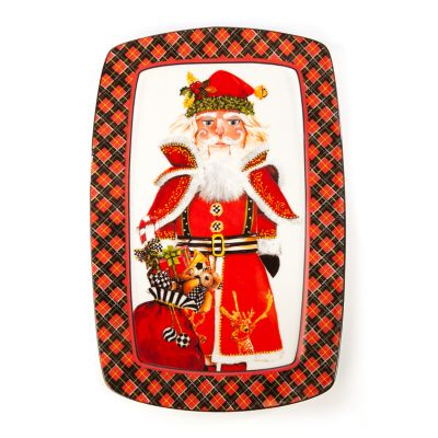 Santa Nutcracker Cookie Plate
