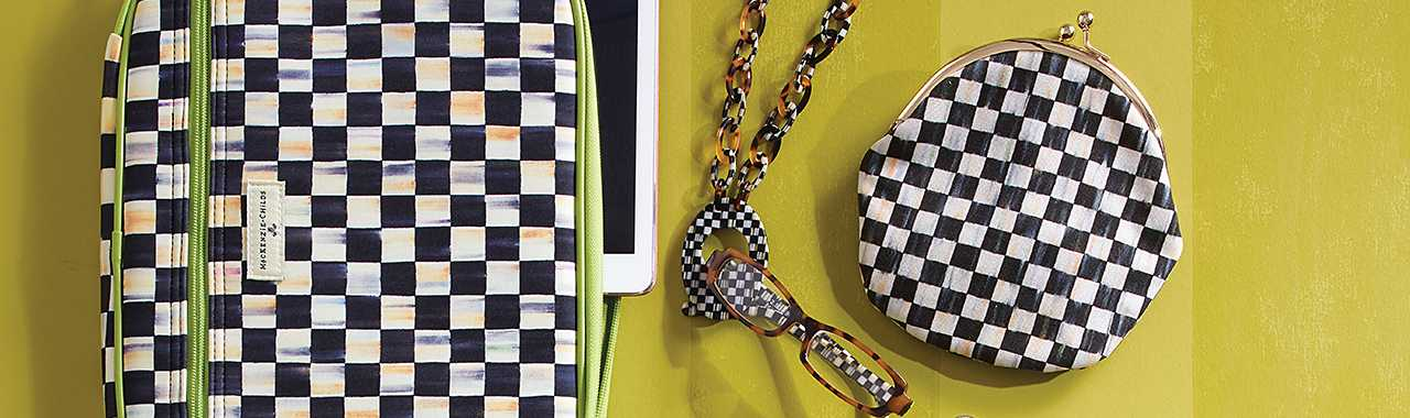 Courtly Check Bracelet Pouch Banner Image