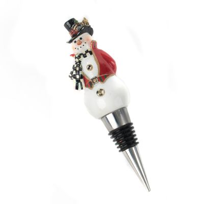 Top Hat Snowman Bottle Stopper