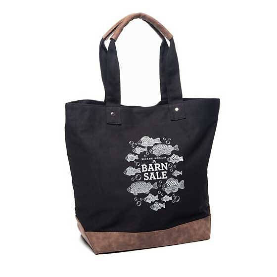 Barn Sale Canvas Tote Bag - Black image one