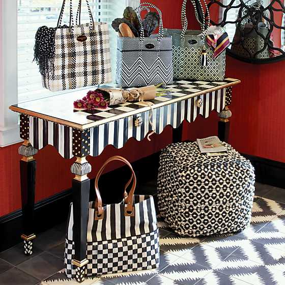 Courtly Check Bistro Tote image three