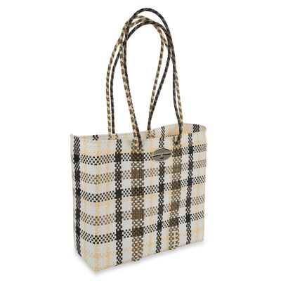 Courtyard Plaid Tote