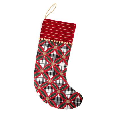 Yuletide Plaid Stocking