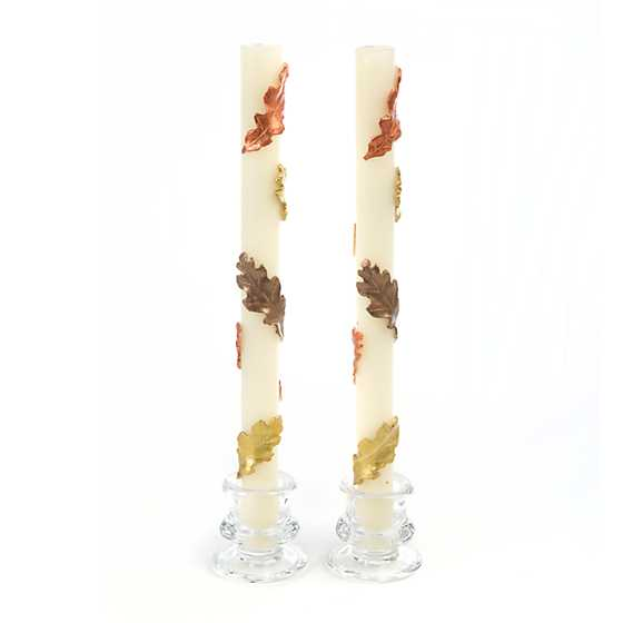 Fall Leaves Dinner Candles - Set of 2