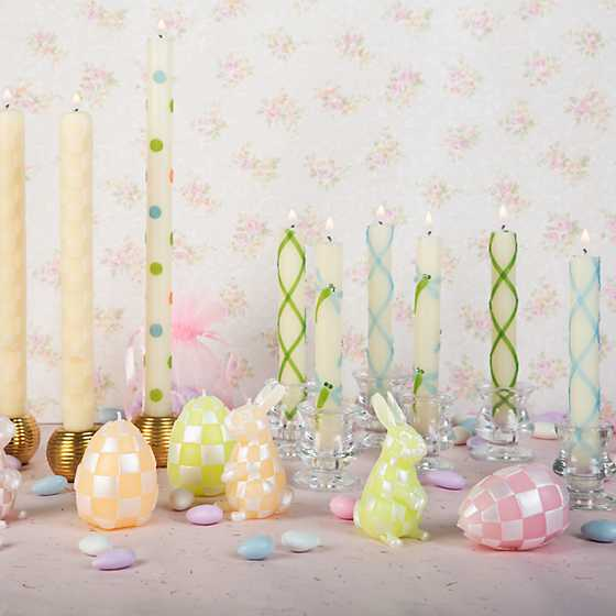 Dot Dinner Candles - Pastel - Set of 2 image two