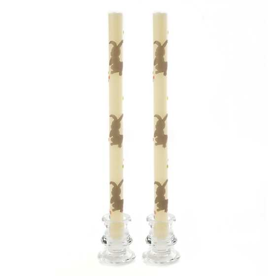 Bunnies & Eggs Dinner Candles - Set of 2