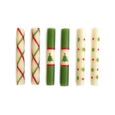 Mini Dinner Candles - Noel - Set of 6