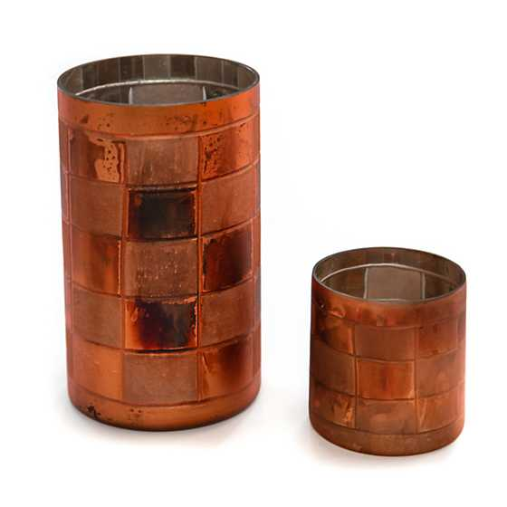 Copper Check Glass Hurricane - Medium image three