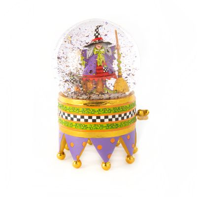 Patience Brewster Raggedy Witch Crystal Ball Globe