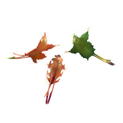 Patience Brewster Falling Leaves Ornaments - Set of 3