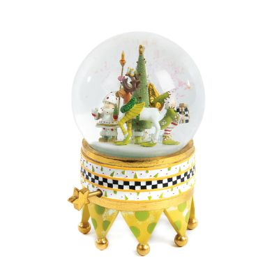 Patience Brewster Dash Away Santa Snow Globe