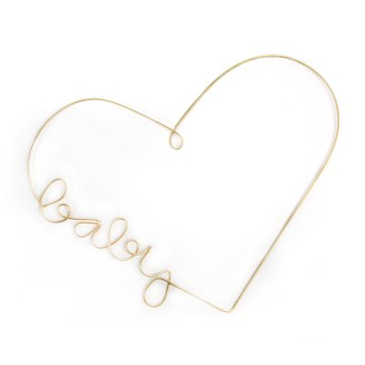 Heart-Shaped Wire Wall Art - Baby