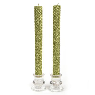 Dinner Beeswax Candles - Metallic Chartreuse