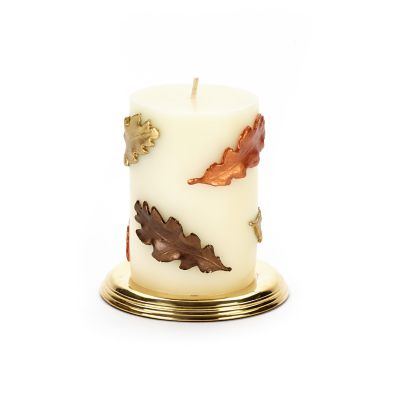 Fall Leaves Pillar Candle - 4""