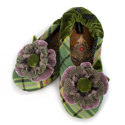 Spring Plaid Slippers - Small