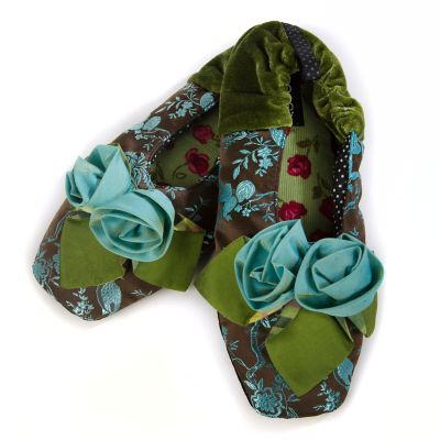 Blue Rose Slippers - Large