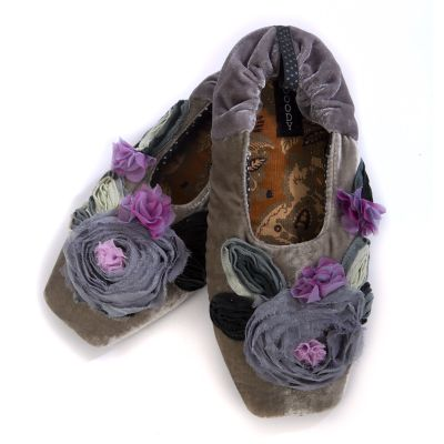 Grey Millefleur Slippers - Small