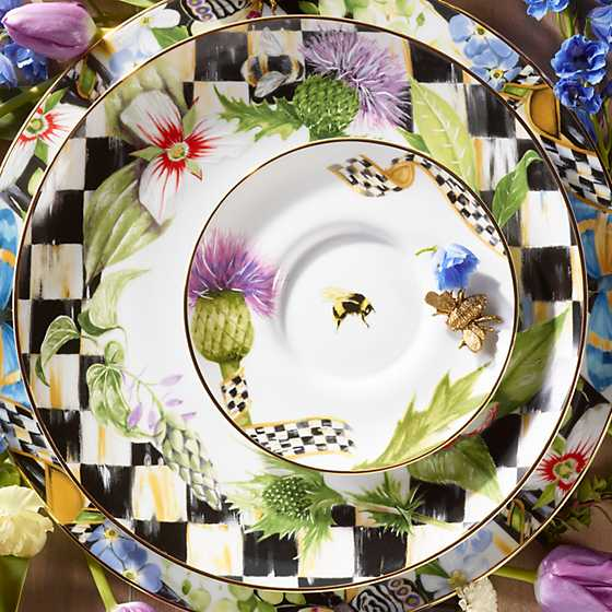 Thistle & Bee Dinner Plate - Garland image four