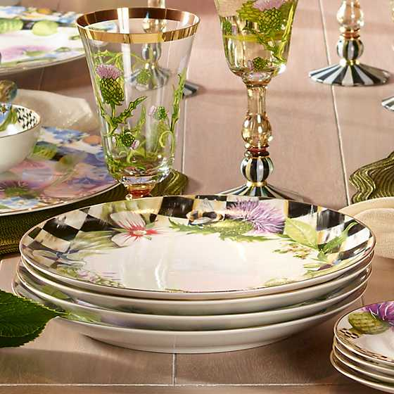 Thistle & Bee Dinner Plate - Garland image five