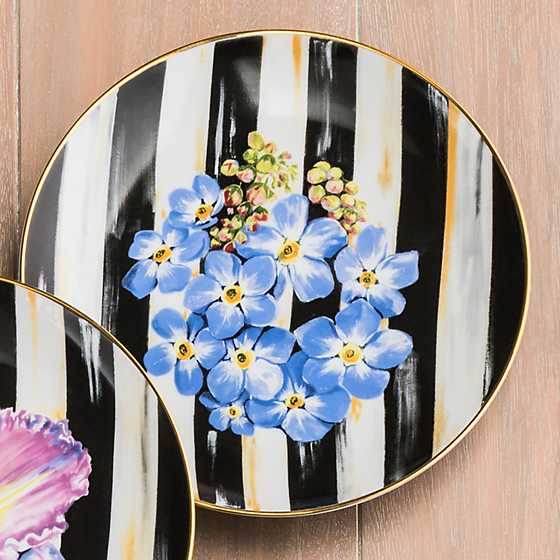 Thistle & Bee Salad Plate - Forget-Me-Not image four