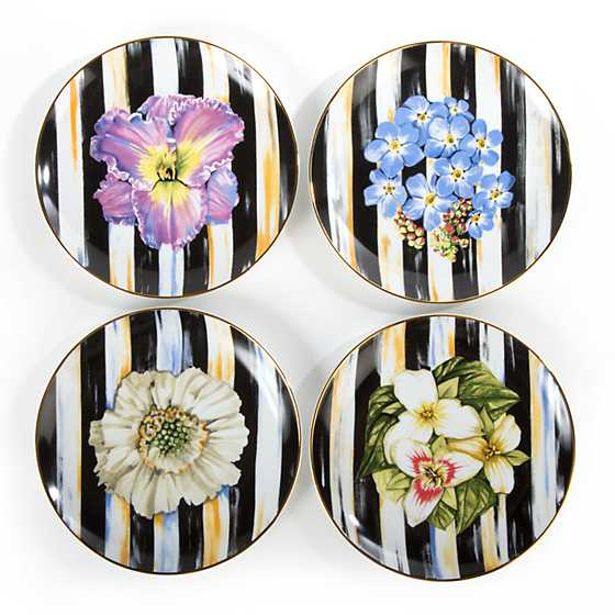 Thistle & Bee Salad Plate - Forget-Me-Not image three