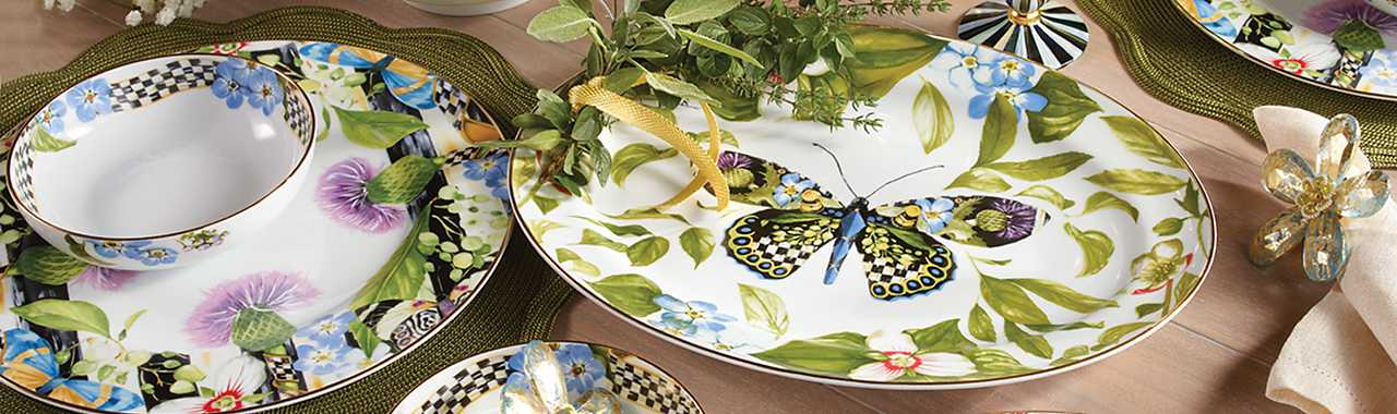 Thistle & Bee Serving Platter Banner Image