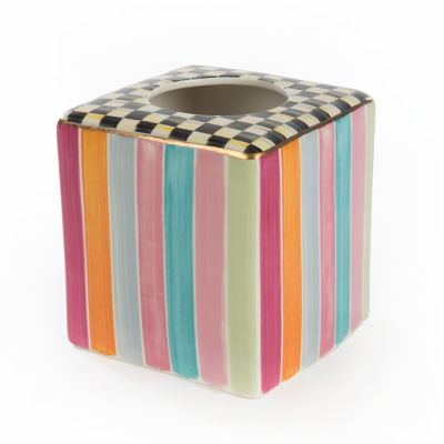 Ribbon & Dot Boutique Tissue Box Holder
