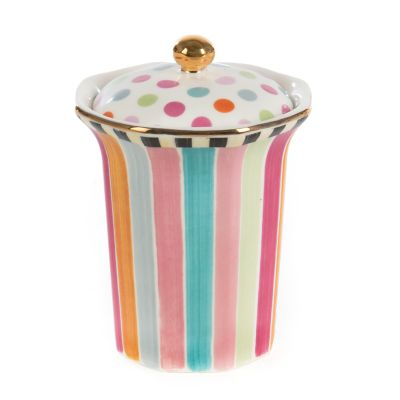 Ribbon & Dot Bath Canister