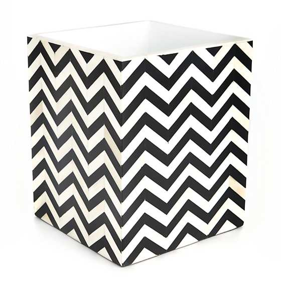 Piazza Waste Bin - Black & Ivory