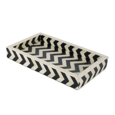 Piazza Small Tray - Black & Ivory
