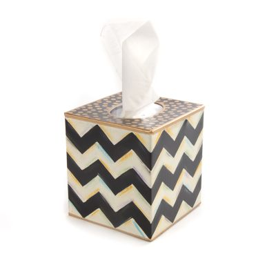 Zig Zag Boutique Tissue Box Cover