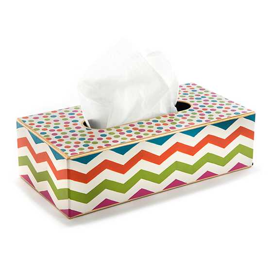 Trampoline Standard Tissue Box Cover - White image two