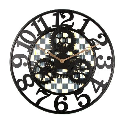 Image for Courtly Check Farmhouse Wall Clock - Small