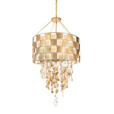 Golden Check Chandelier