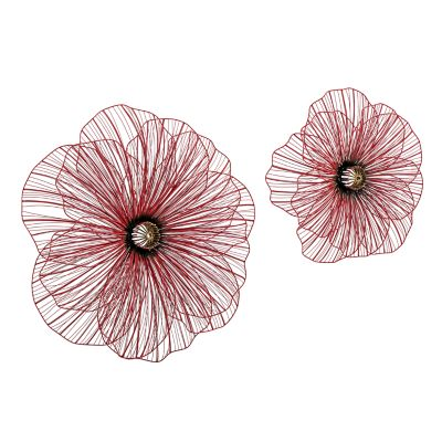Poppy 3D Wall Flowers - Set of 2